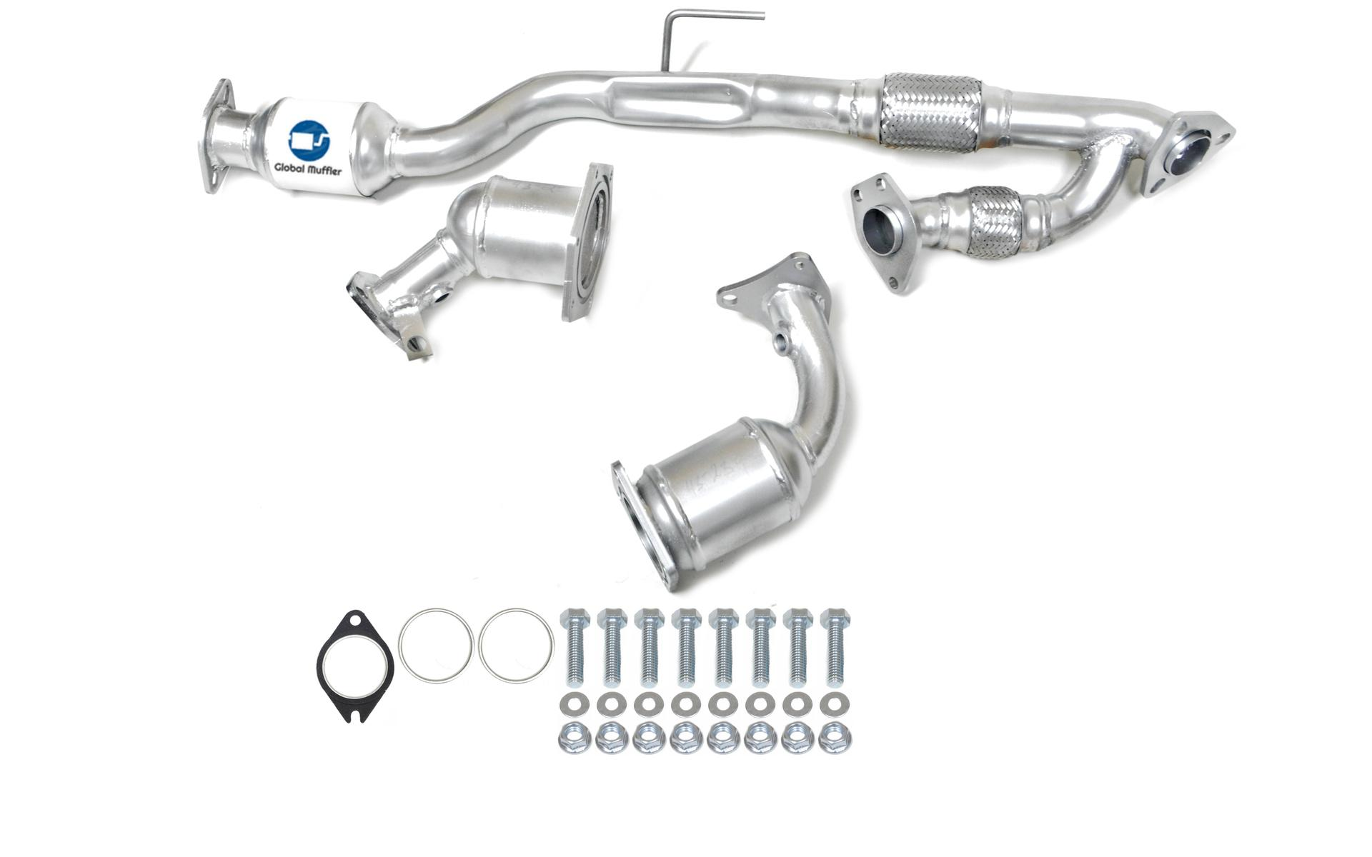 Fits 2009 To 2014 Nissan Murano 3 5l V6 Catalytic Converter Set With Flex Y Pipe Global Muffler Inc